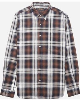 Button Down Twill Check Shirt