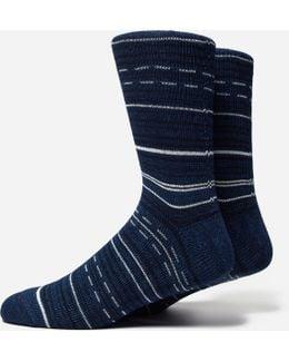 Indigo African Stripe Socks