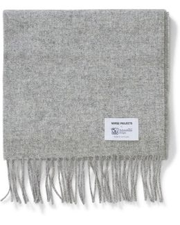 Norse X Johnstons Lambswool Scarf Ash Grey