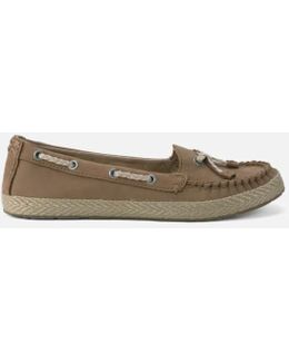 Chivon Leather Moccasin Shoes