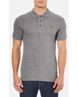 Short Sleeve Plain Pique Polo Shirt