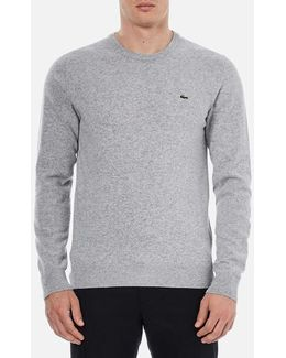 Men's Basic Crew Knitted Jumper