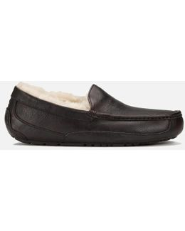 Ascot Grain Leather Slippers