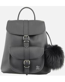 Fluffy Fur Pom Backpack