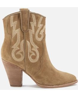 Joe Suede Heeled Boots