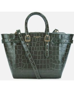 Marylebone Medium Croc Tote Bag