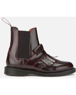 Tina Arcadia Leather Kiltie Chelsea Boots