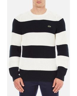 Men's Crew Neck Stripe Sweatshirt