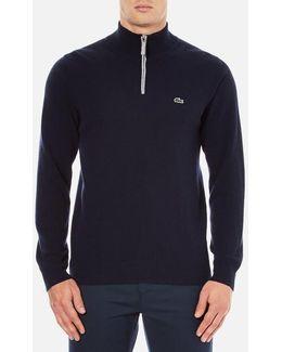 Men's Half Zip Funnel Neck Sweatshirt