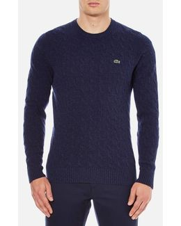 Crew Neck Cable Stitch Jumper