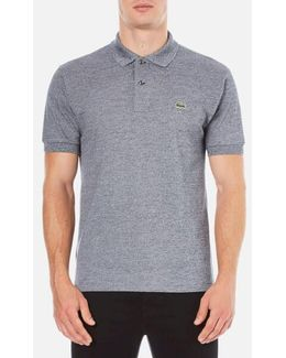 Men's Basic Pique Short Sleeve Marl Polo Shirt