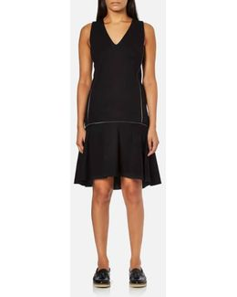 Women's Punto Dress With Zip Detail