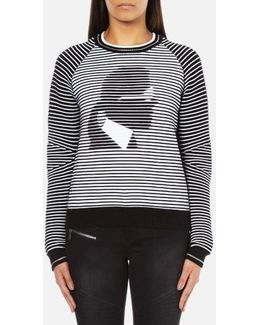 Women's Karl Head Jacquard Sweatshirt