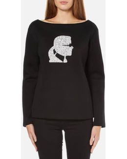 Sparkle Karl Head Sweatshirt