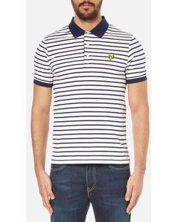 Short Sleeve Breton Stripe Polo Shirt