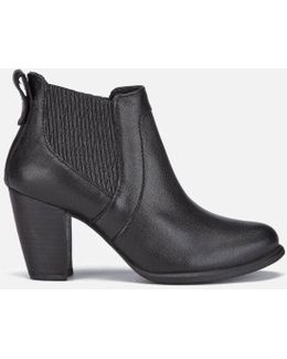 Cobie Ii Leather Heeled Ankle Boots