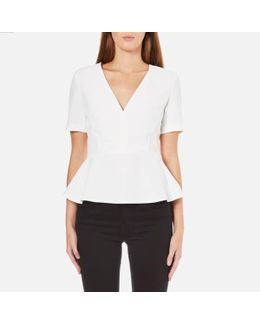 Arrow Crepe Short Sleeve Top