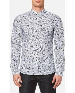 Jason Slim Fit Geo Print Shirt