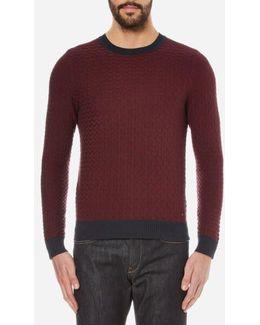 Men's Kuvudo Textured Knitted Jumper