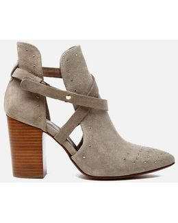 Women's Jura Suede Studded Heeled Ankle Boots