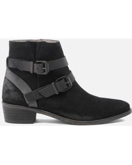 Women's Meeya Suede Buckle Heeled Ankle Boots