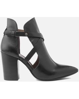 Women's Geneve Leather Heeled Ankle Boots