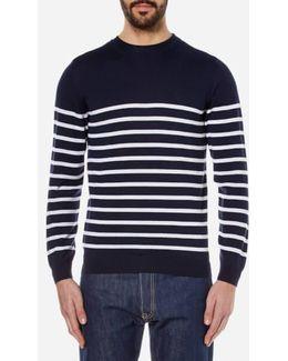 Breton Stripe Crew Neck Knitted Jumper