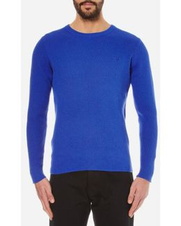 Cotton Texture Crew Knitted Jumper
