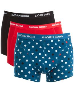 3 Pack Contrast Dot Detail Boxers