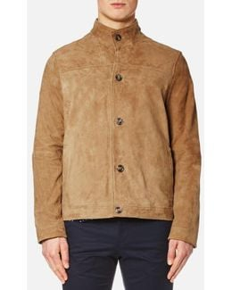 Men's Leather Harrington Jacket