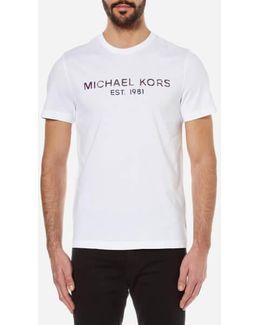 Men's Kors Logo Crew Neck Tshirt