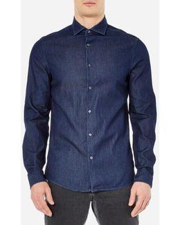 Men's Slim Indigo Long Sleeve Shirt