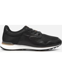 Floura Mix Leather Runner Trainers