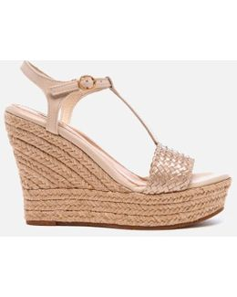 Fitchie Ii T-strap Jute Wedged Espadrille Sandals