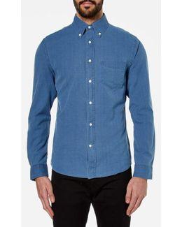 Indigo Oxford Long Sleeve Shirt
