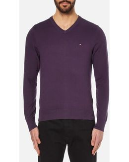 Prime Cotton V-neck Knitted Jumper