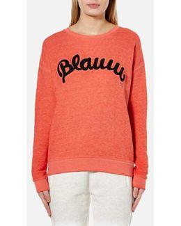 Women's Blauw Burnout Sweatshirt