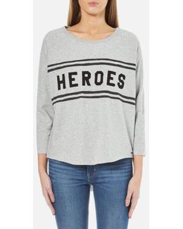Women's Loose Fitted Sweatshirt With A Raw Hem