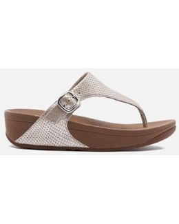 The Skinny Leather Toe-post Sandals