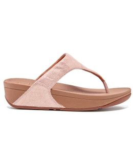 Shimmy Suede Toe-post Sandals