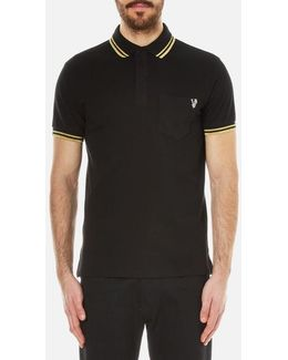 Large Embroidered Back Logo Polo Shirt