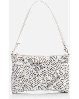 Love Printed Shoulder Clutch Bag