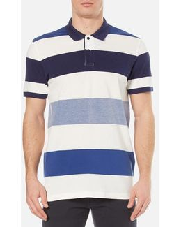 Oxford Multi Stripe Rugger Polo Shirt