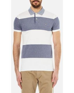 Barstripe Oxford Pique Rugger Polo Shirt