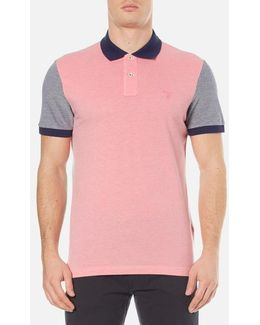 Colour Block Oxford Rugger Polo Shirt