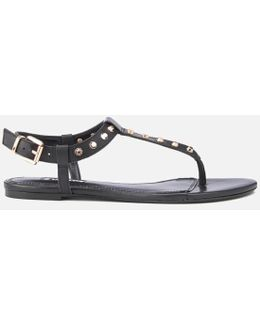 Laciee Leather Toe Post Sandals