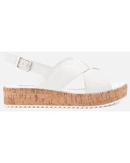 Kriss Leather Flatform Sandals