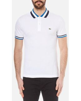 Men's Collar Detail Polo Shirt