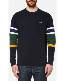 Colorblock Ottoman-knit Sweatshirt