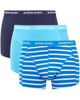 Three Pack Bb Stripe Boxer Shorts